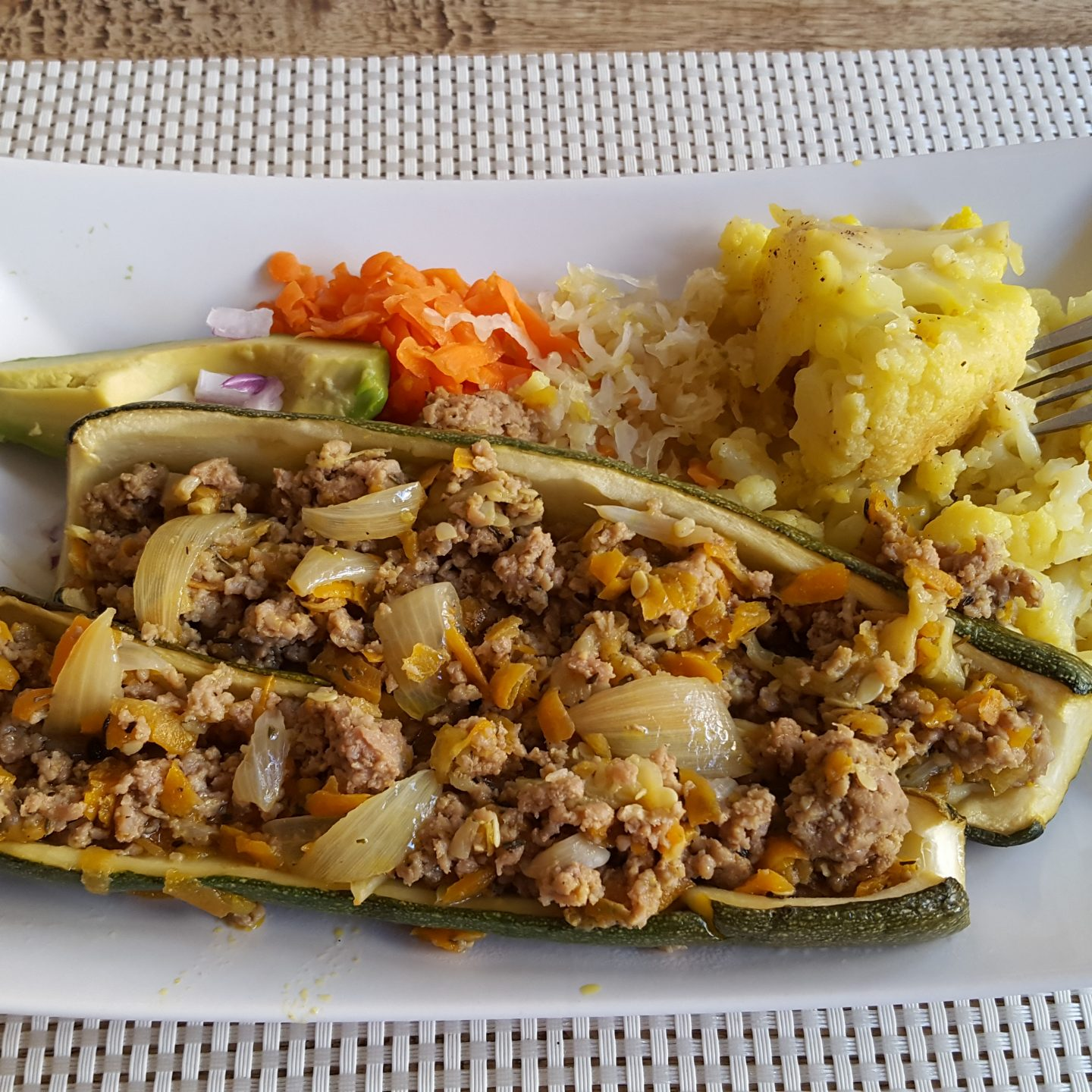 Minced Meat Zucchini Boats