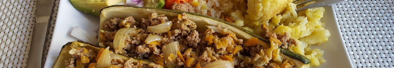 Minced Meat Zucchini Boats